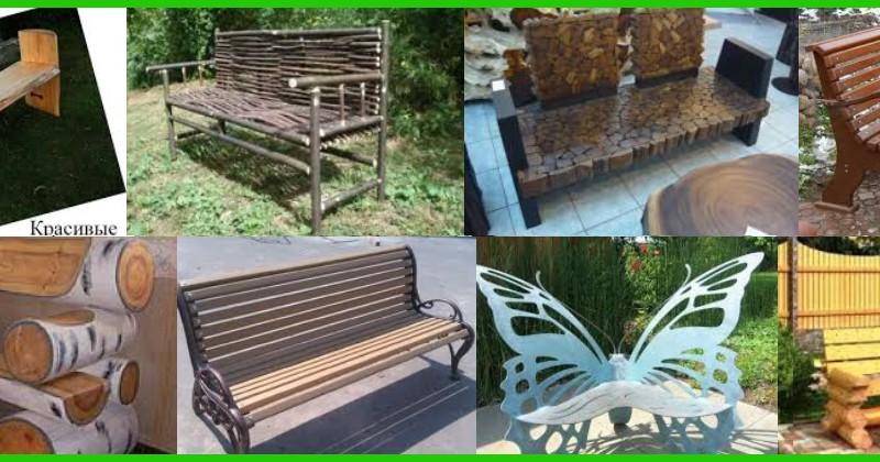 оригинальные дачные скамейки