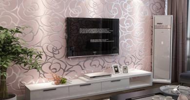 High-Quality-Romantic-Embossed-Floral-Non-woven-font-b-Wallpaper-b-font-font-b-Flocking-b