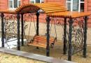 Дачные качели (садовые) фото