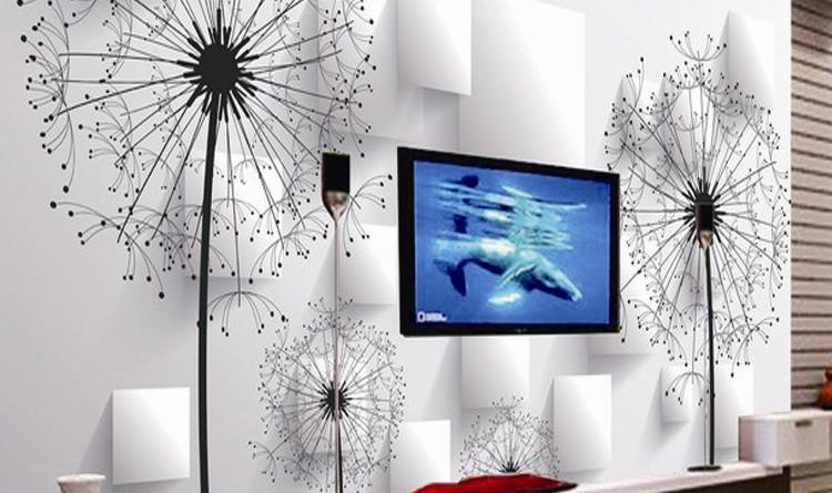 Одуванчик-3d-обои-тв-фоне-обои-для-гостиной-диван-фон-росписи-KTV-номеров-фреска-обоями-украшений