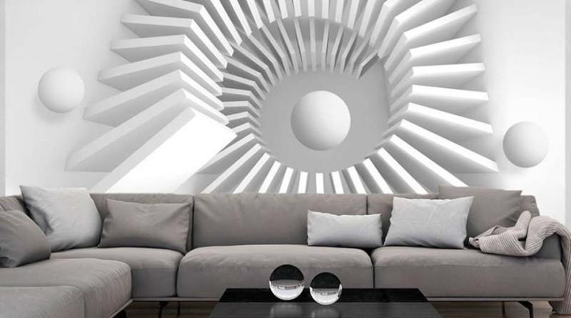 design-interieur-maison-moderne-papier-peint-3d