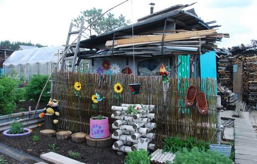 Декоративный забор своими руками из подручных материалов